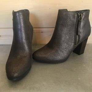 JustFab Faux Metallic Booties